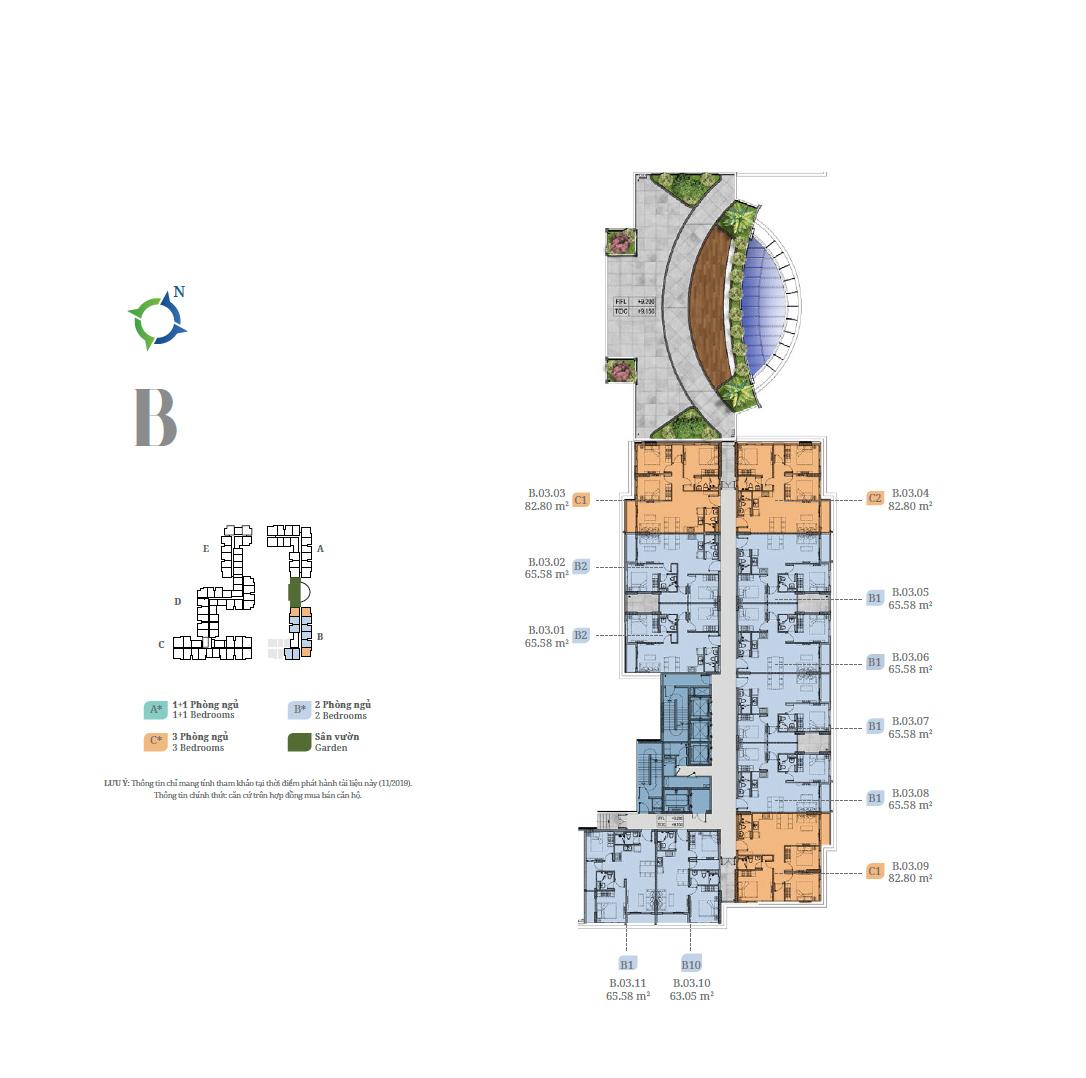 MB Tầng 3 Tháp B Lovera Vista